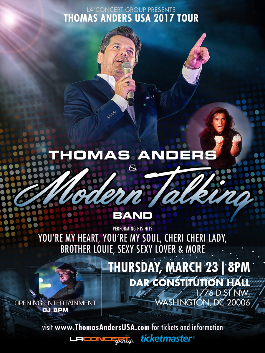 Thomas Anders & Modern Talking Band in Washington DC! – LA